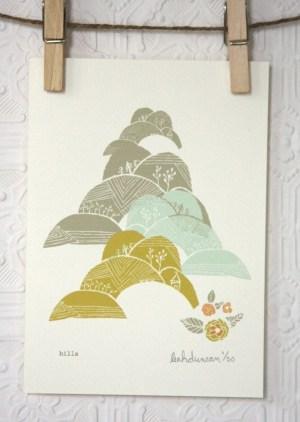 leah duncan hills print 300x422 Paper Artwork   Leah Duncan