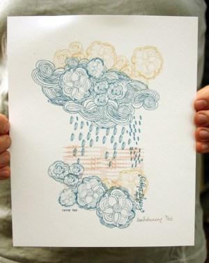 leah duncan rain print 300x377 Paper Artwork   Leah Duncan