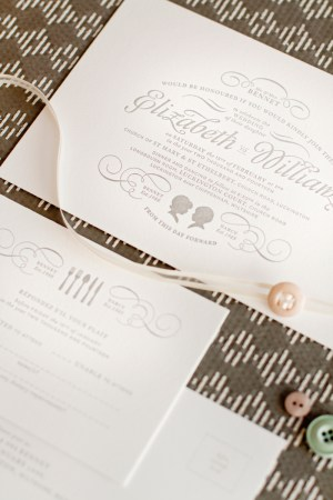 mitchell dent cameo silhouette wedding invitation detail 300x450 Wedding Invitations   Mitchell + Dent