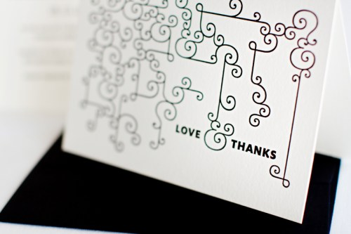 mitchell dent modern ampersand wedding invitation detail2 500x333 Wedding Invitations   Mitchell + Dent