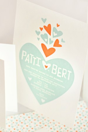 mitchell dent modern paper heart wedding invitation 300x450 Wedding Invitations   Mitchell + Dent