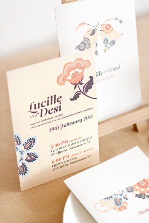 mitchell dent vintage floral wedding invitation 300x450 Wedding Invitations   Mitchell + Dent