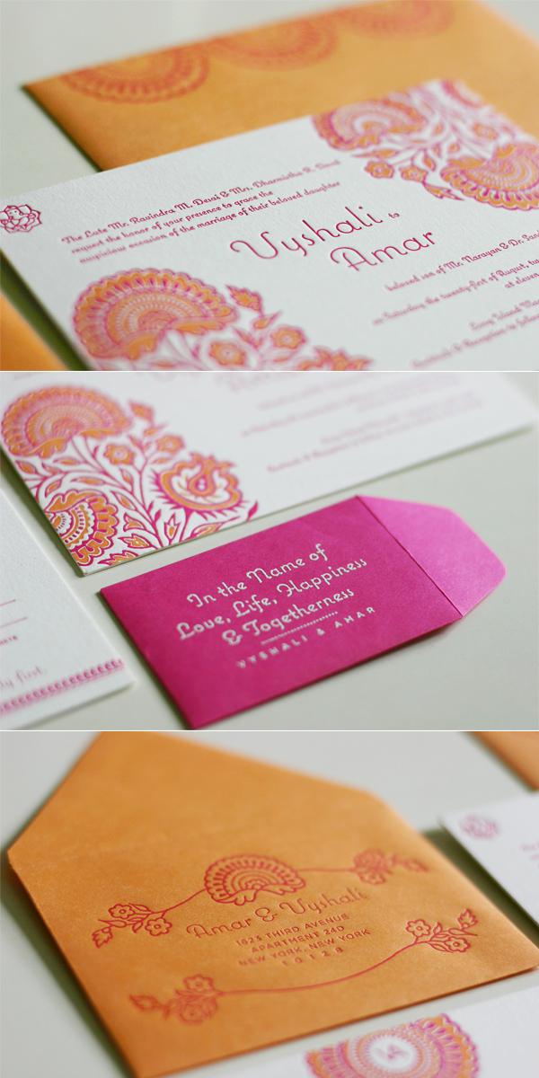 Traditional Hindu Wedding Invitations