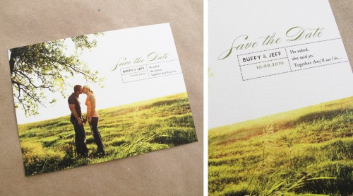 Branch Twine Photo Wedding Save the Dates 500x277 Buffy + Jeffs Twine, Cork, and Branch Wedding Invitations