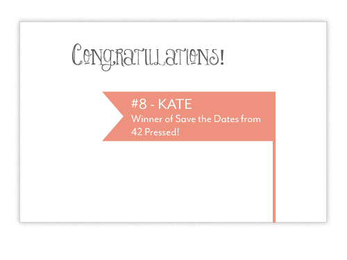 Giveaway Winner 42Pressed Save the Date Giveaway Winner!