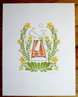 Windmill Dutch Door Letterpress 300x372 Etsy Guest Curator