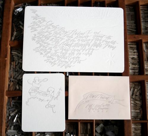 blackbird neworleans 500x459 Wedding Invitations   Blackbird Letterpress