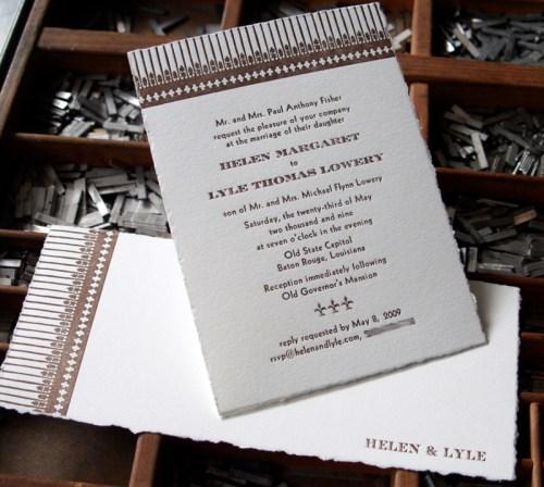 blackbird wroughtiron 500x448 Wedding Invitations   Blackbird Letterpress