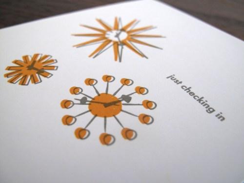 lulu dee letterpress card clocks2 500x375 Lulu + Dee