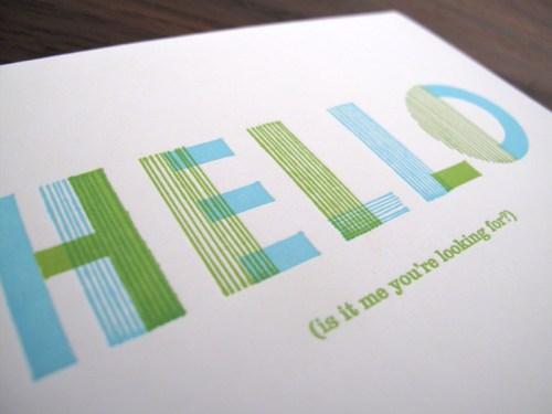lulu dee letterpress card hello2 500x375 Lulu + Dee