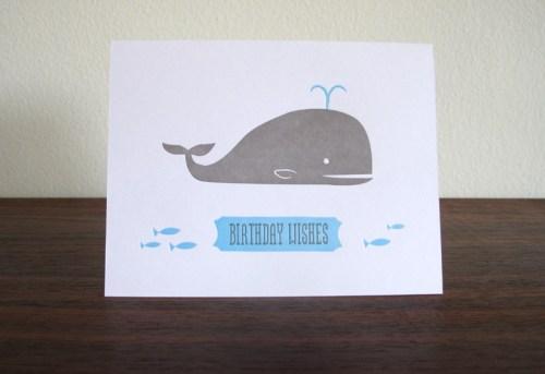 lulu dee letterpress card whale 500x343 Lulu + Dee
