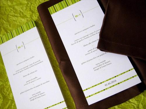 spring green wedding invitation menu 500x375 Valentina + Marcos Ireland Inspired Italian Wedding Invitations