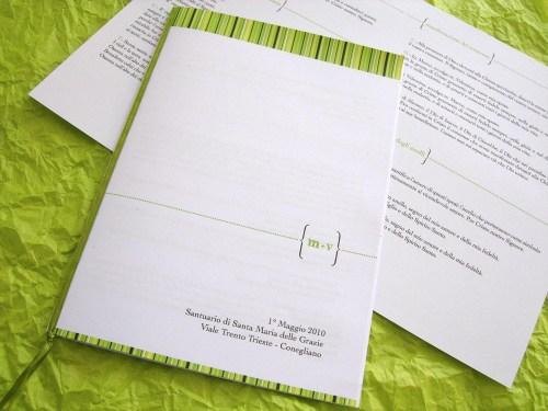 spring green wedding invitation 500x375 Valentina + Marcos Ireland Inspired Italian Wedding Invitations