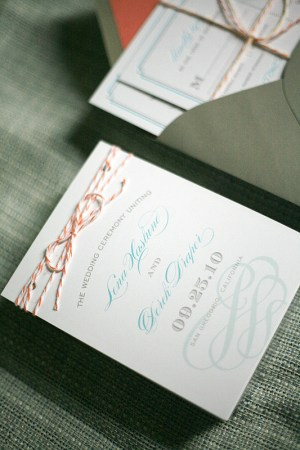 California Letterpress Wedding Invitations Twine 300x450 Lena and Dereks California Wedding Invitations