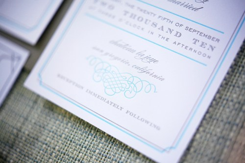 California Letterpress Wedding Invitations3 500x333 Lena and Dereks California Wedding Invitations