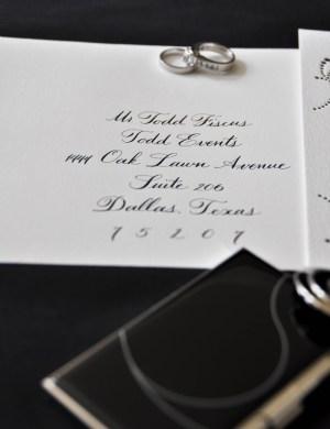 Classic Black White Wedding Calligraphy 300x390 Classic Black + White Calligraphy