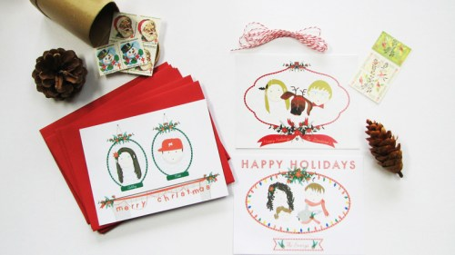 two brunettes christmas cards 500x281 New Giveaway! Personalized Holiday Cards from Two Brunettes!