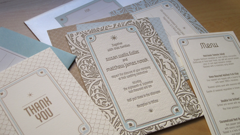 Art Deco Garden Party Wedding Invitations