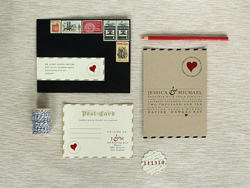 Love Letter Wedding Invitations 500x375 Love Letter Inspired Wedding Invitations