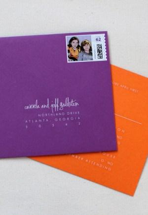 Modern Bnai Mitzvah Invitation Envelope Stamp1 300x435 Modern Bnai Mitzvah Invitations