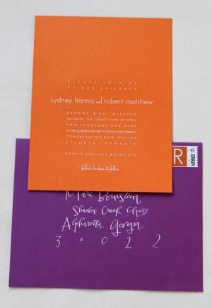 Modern Bnai Mitzvah Invitation Envelope1 300x435 Modern Bnai Mitzvah Invitations