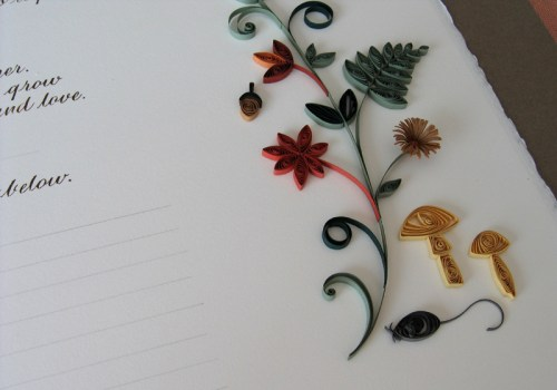 Nature Inspired Quilled Marriage Certificate3 500x350 Nature Inspired Quilled Marriage Certificate