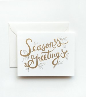 Rifle Paper Co Holiday Card 300x340 2010 Holiday Card Round Up, Part 1!