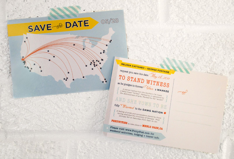 Melissa + George\u0027s Save the Date Postcards - save date postcard