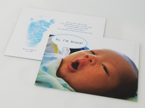 Baby Boy Birth Announcements2 500x375 Blue Birth Announcements for Baby Bruce!