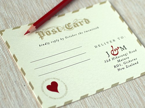 Love Letter Wedding Invitations RSVP 500x375 Best of 2010 Wedding Invitations: Vintage Love Letters