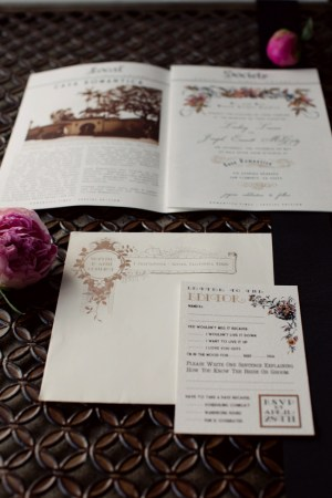 Newspaper Wedding Invitation Suite2 300x450 Jos + Lindsays Newspaper Wedding Invitations
