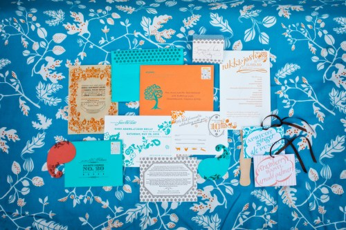 Virginia Balsa Wood Orange Blue Wedding Invitations Suite2 500x333 Nikki + Joshs Balsa Wood Wedding Invitations