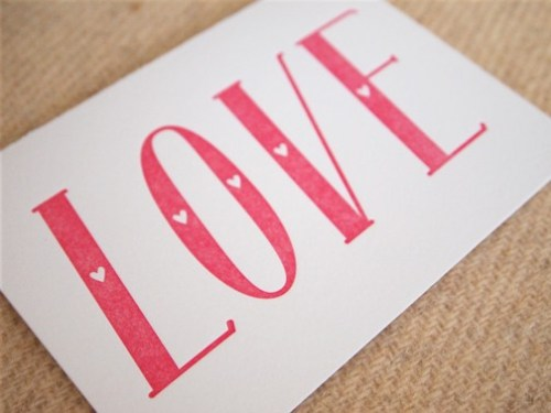 BDR Love Valentine Card 500x375 Simple + Sweet Valentines