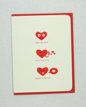 Maginating Letterpress Love Valentines Day Card 300x374 Seasonal Stationery: Valentines Day Cards, Part 2