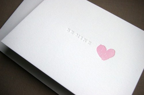 Snap Tumble Be Mine Valentines Day Card 500x331 Seasonal Stationery: Valentines Day Cards, Part 2