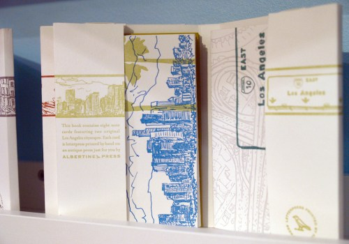 Albertine Press Letterpress Library Cities Detail 500x350 January 2011 NYIGF, Part1