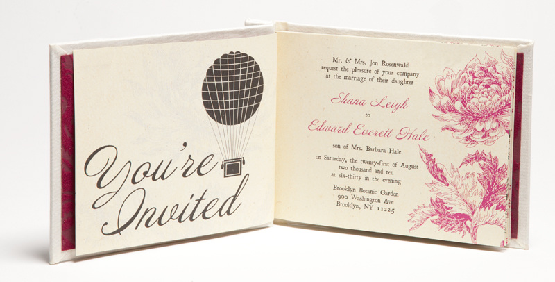 Shana + Edward\u0027s Hardcover Book Wedding Invitations