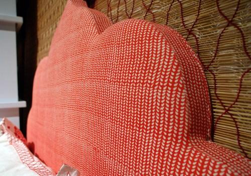 John Robshaw Red Fabric Bed Headboard 500x350 January 2011 NYIGF, Part 2
