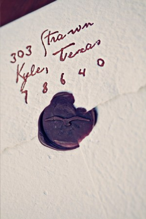 Letterpress Thank You Cards Wax Seal 300x450 Claytons Elegant Letterpress Thank You Cards