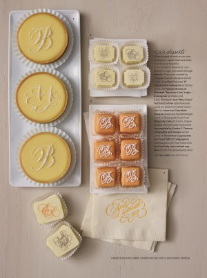 Martha Stewart Weddings Spring 2011 Edible Calligraphy 300x402 Sneak Peek   Martha Stewart Weddings Spring 2011 Issue