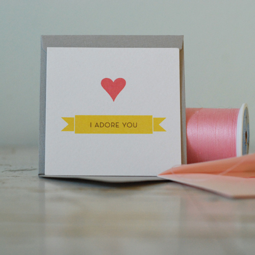 Petal Print Adore You Card Seasonal Stationery: Last Minute Valentines Day Cards