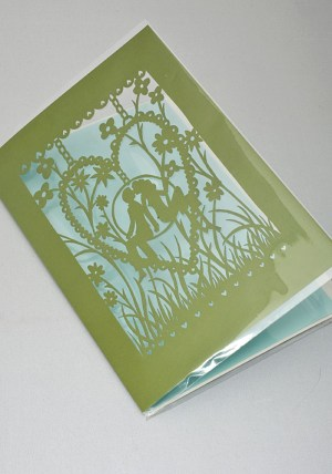 Rob Ryan Laser Cut Card Green 300x428 Rob Ryan Greeting Cards