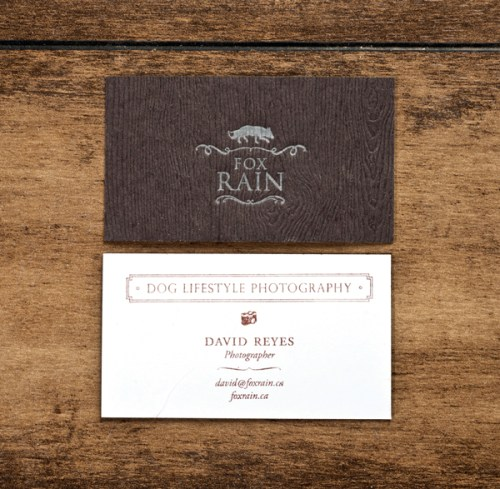 brown silver letterpress business cards 500x489 Business Card Ideas and Inspiration #5