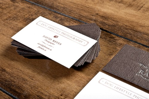 brown silver letterpress business cards2 500x332 Business Card Ideas and Inspiration #5