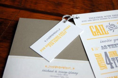info card back 500x332 Gail + Jason's Modern Yellow + Gray Wedding Invitations