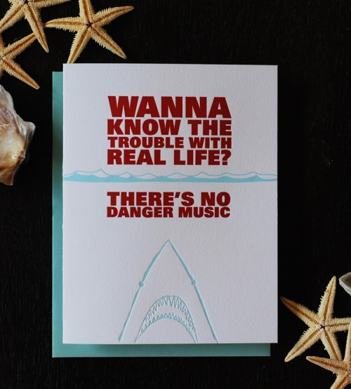 shark danger music greeting card 500x554 No Danger Music