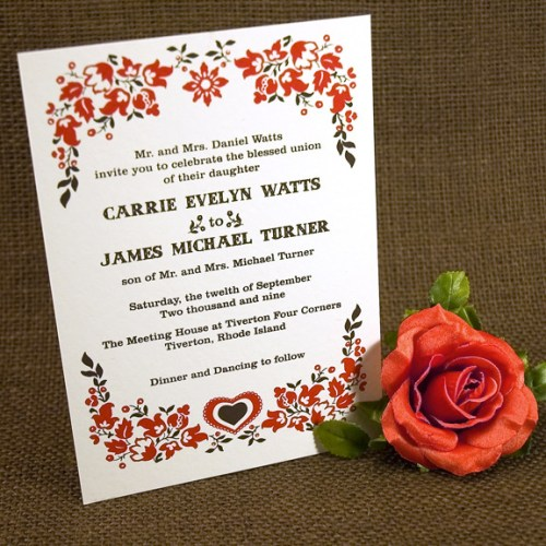 two trick pony wedding Invitation 500x500 The Printing Process: Screen Printing