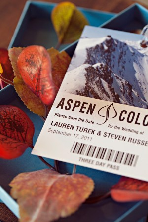 Fall Aspen Wedding Save the Dates4 300x450 Fall Ski Inspired Aspen Save the Dates
