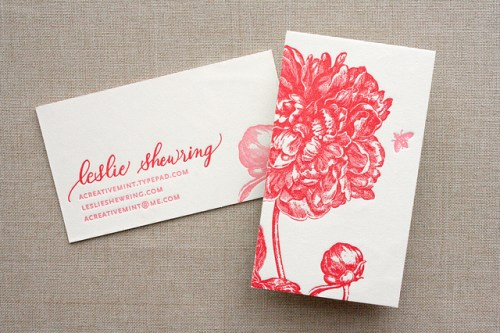 Floral Calligraphy Business Cards 500x333 Business Card Ideas and Inspiration #7