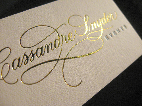 Gold Foil Business Cards Business Card Ideas and Inspiration #7